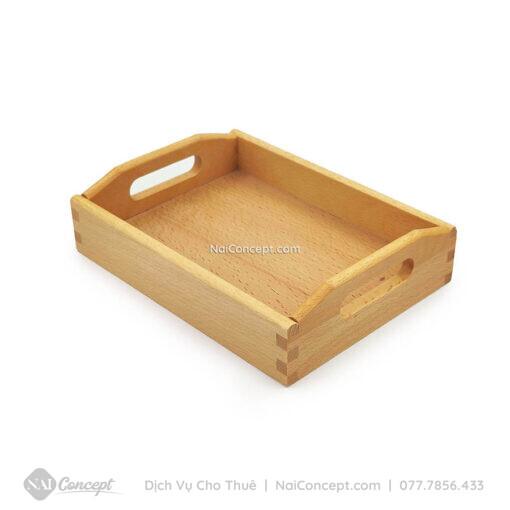 Cho thuê khay gỗ chữ nhật chụp ảnh sản phẩm