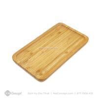 Cho thuê dĩa gỗ chữ nhật bằng tre chụp ảnh